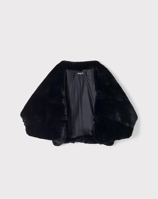 Veste en lapin - Noir