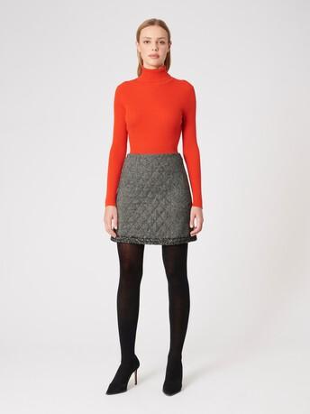 Merino wool sweater - Cornaline
