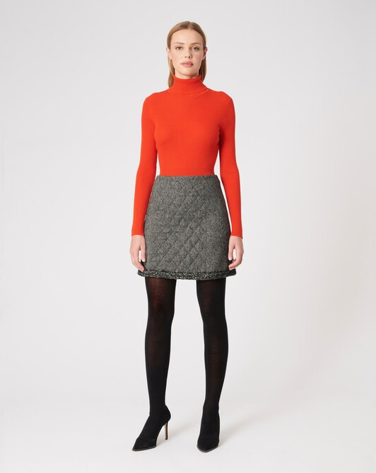 KNITTED SWEATER - Cornaline