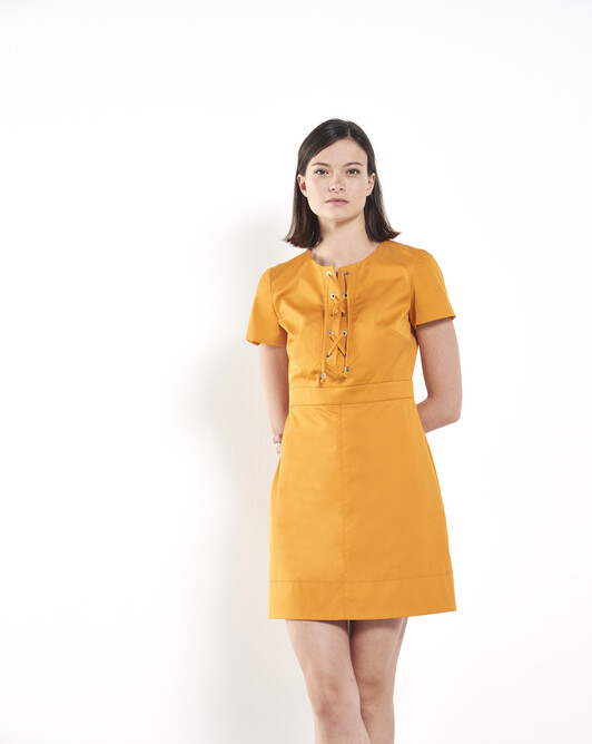 Cotton-gabardine dress - Safran