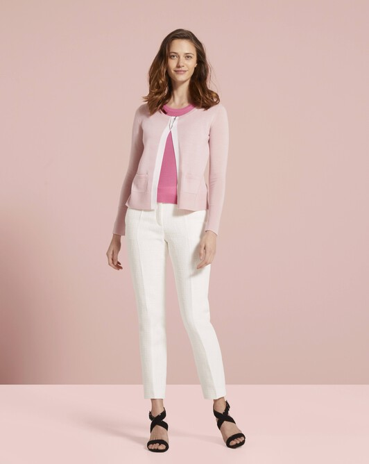 Merino wool sweater - Rose pale / pivoine