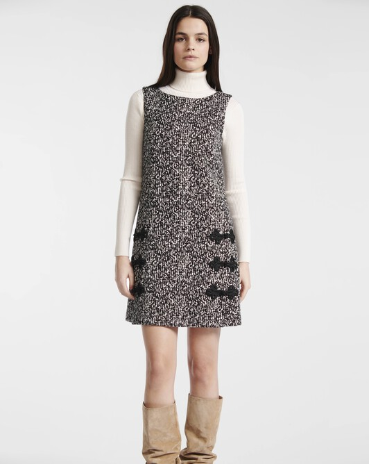 Black and white tweed dress - Black / white
