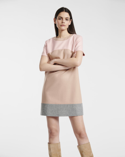 Wool dress - beige