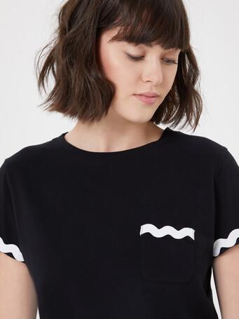 Cotton jersey T-shirt - Noir
