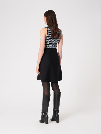 Jacquard dress - Noir / souris