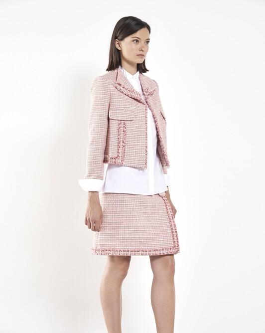 Woven tweed jacket - Peony